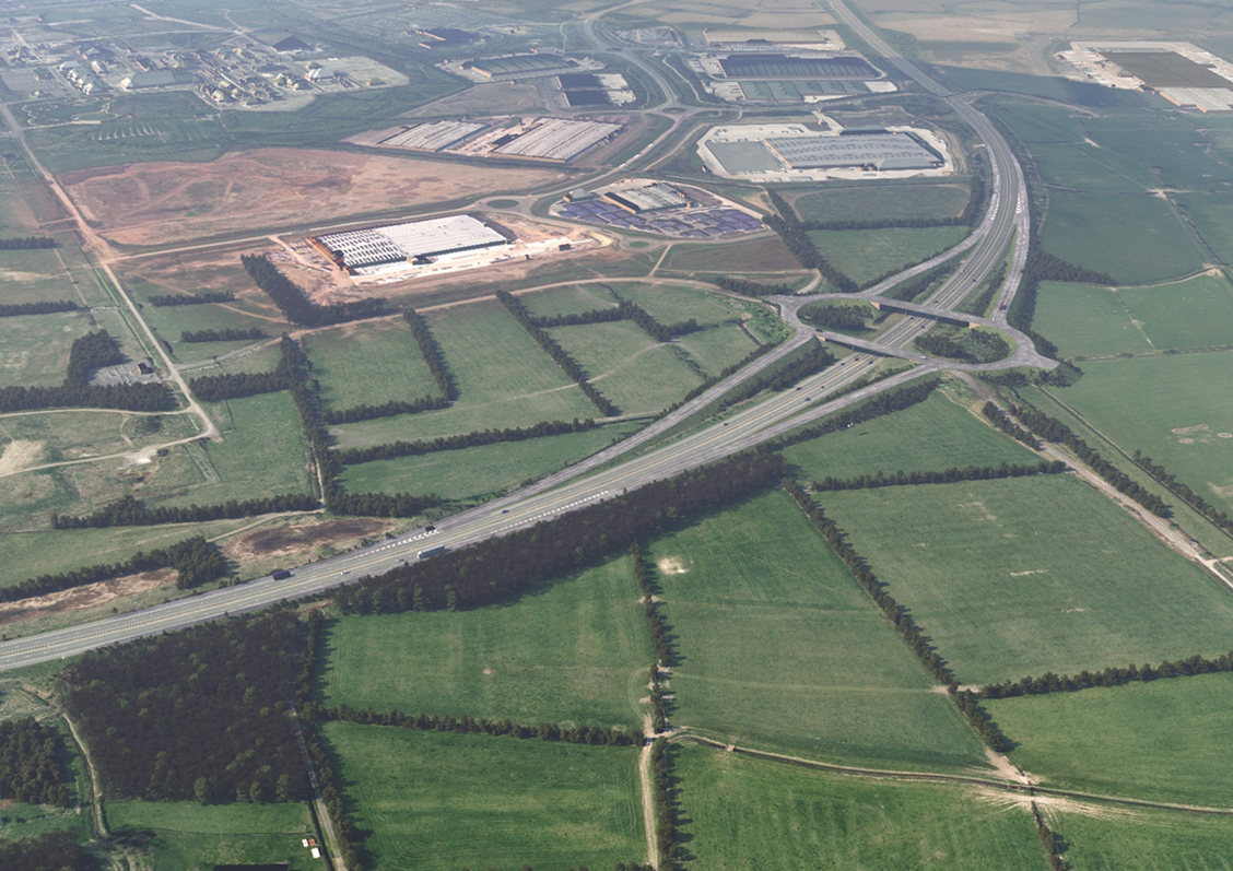 image of the new junction including bridges