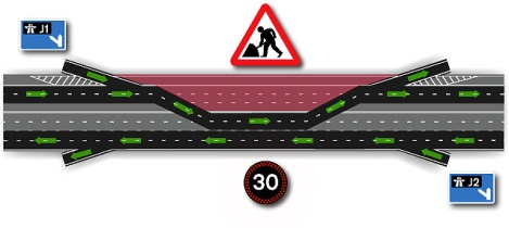 Contraflow diagram