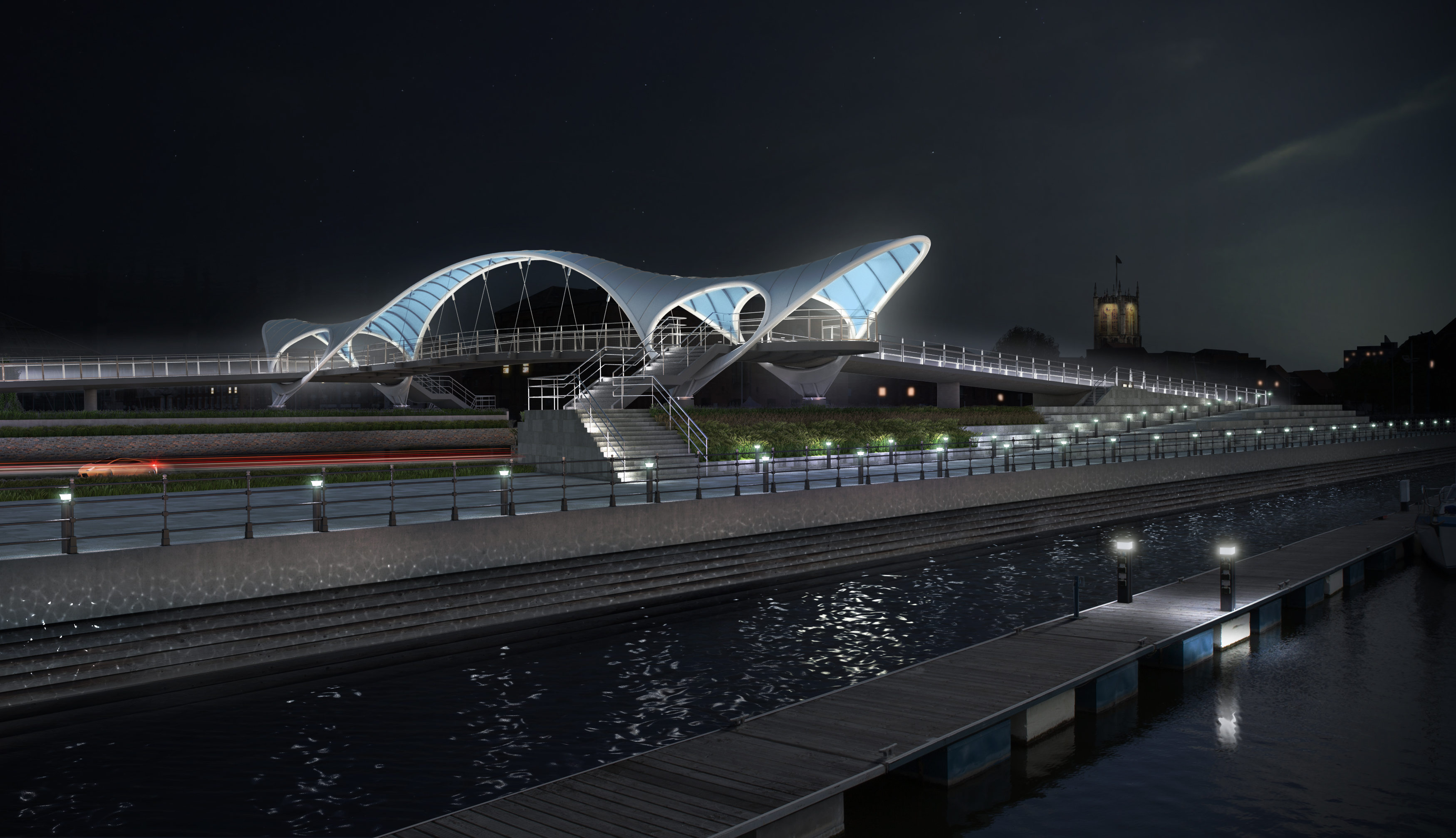 Princes Quay Bridge artist's impression